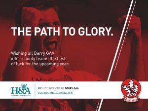 Derry GAA 2018 Good luck message